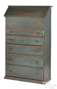 New England or Canadian painted pine cupboard