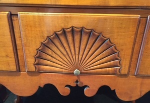 New England Queen Anne maple high chest