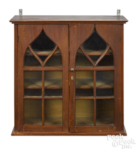 New England staining birch hanging cabinet