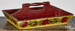 Painted utensil tray