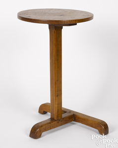 New England maple and birch candlestand
