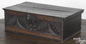 Jacobean oak Bible box