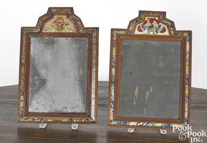 Two William and Mary courting mirrors
