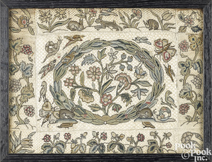 Charles II tent stitch embroidery