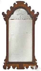 George II mahogany looking glass