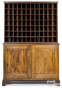 George II mahogany tellers cabinet