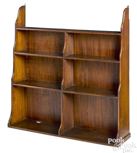 English mahogany hanging shelf