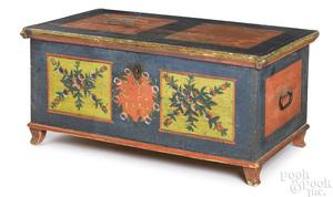 Scandinavian painted pine dower chest