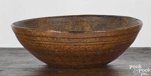 Large New England burlwood bowl