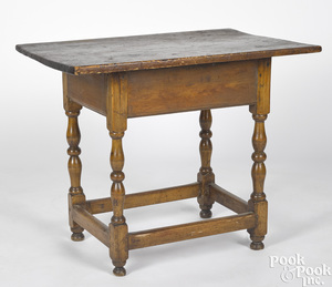 New England pine and maple tavern table