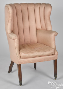 Federal mahogany barrelback easy chair