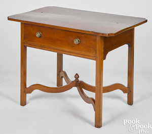 New England Chippendale cherry work table