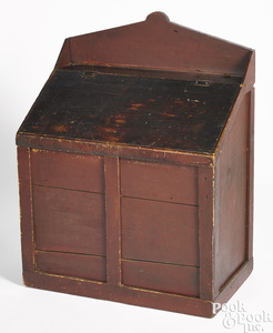 New England painted pine grain bin