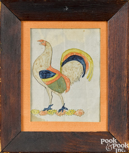 Pennsylvania watercolor drawing of a rooster
