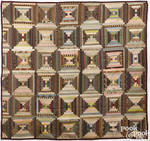 Child's log cabin quilt