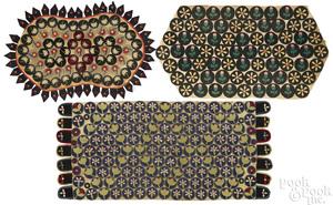 Three penny rugs