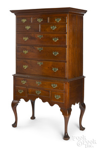 Pennsylvania Queen Anne walnut high chest