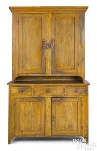 Pennsylvania painted pine Dutch cupboard
