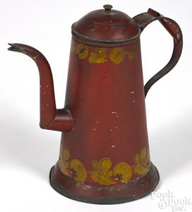 Pennsylvania toleware lighthouse coffee pot