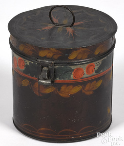 Pennsylvania tin toleware canister