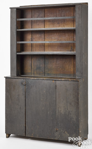 New England painted pine open top cupboard