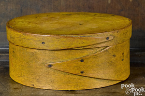 New England painted bentwood pantry box
