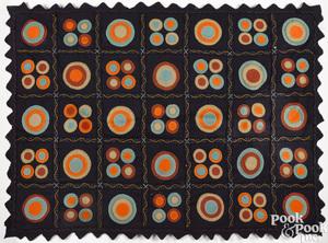 Vibrant penny rug
