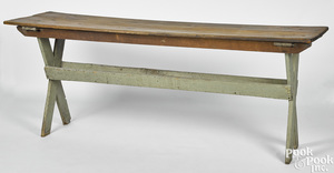 Painted pine sawbuck table