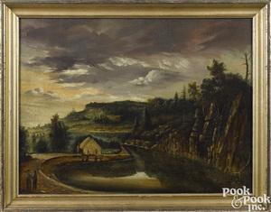 New Jersey oil on panel landscape