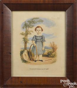Henry Walton, watercolor portrait