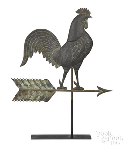 Large swell body rooster weathervane