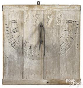 Pennsylvania painted poplar sundial
