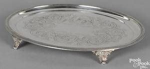 New York silver salver