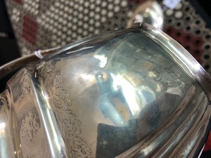 Three-piece New York silver tea set