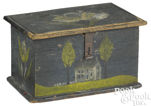 Jonas or Jacob Weber painted pine dresser box