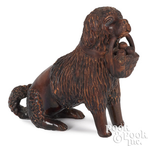 Pennsylvania redware seated spaniel