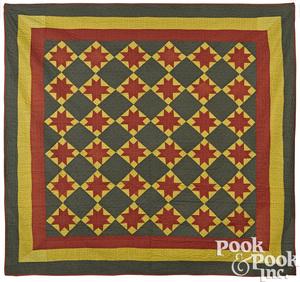 Pennsylvania patchwork star variant quilt