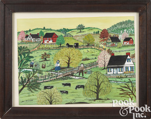 Hattie Klapp Brunner springtime farm scene
