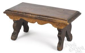 Pennsylvania figured mahogany foot stool