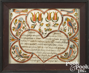 Johann Conrad Trevits birth certificate