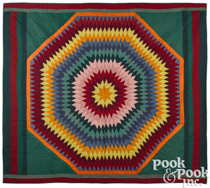 Pennsylvania patchwork bursting star quilt