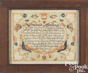 Wilhelmus Antonius Faber baptismal certificate