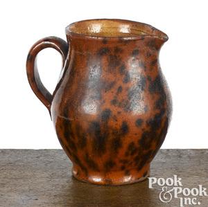 Pennsylvania redware cream pitcher