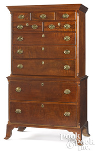 Pennsylvania Chippendale walnut chest on chest