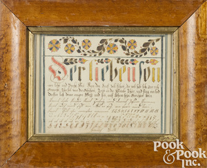 Mennonite watercolor and ink vorschrift