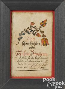 Johann Adam Eyer bookplate