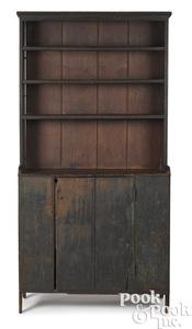 Pennsylvania softwood stepback open cupboard