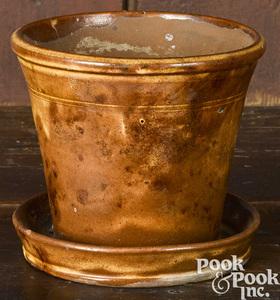Pennsylvania redware flower pot