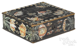 "Pennsylvania painted pine dresser ""Bucher"" box"