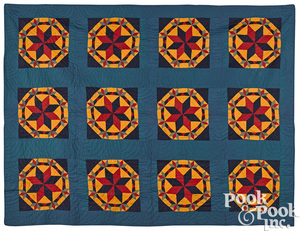Pennsylvania patchwork crown of thorns quilt